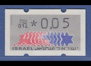Israel Klüssendorf ATM Dauerausgabe 1.Papier, mit Aut.-Nr. 014 , Mi.-Nr. 3.1.14