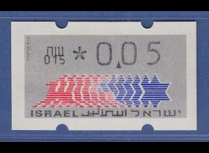 Israel Klüssendorf ATM Dauerausgabe 1.Papier, mit Aut.-Nr. 015 , Mi.-Nr. 3.1.15