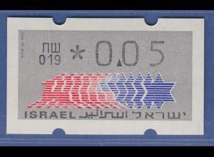 Israel Klüssendorf ATM Dauerausgabe 1.Papier, mit Aut.-Nr. 019 , Mi.-Nr. 3.1.19