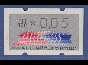 Israel Klüssendorf ATM Dauerausgabe 1.Papier, mit Aut.-Nr. 020 , Mi.-Nr. 3.1.20