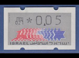 Israel Klüssendorf ATM Dauerausgabe 1.Papier, mit Aut.-Nr. 021 , Mi.-Nr. 3.1.21