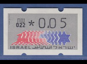 Israel Klüssendorf ATM Dauerausgabe 1.Papier, mit Aut.-Nr. 022, Mi.-Nr. 3.1.22