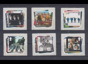 Großbritannien 2007 50 Jahre The Beatles Plattencover Satz 6 Werte kpl. **