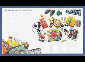 Großbritannien 2007 Blockausgabe The Beatles Mi.-Nr. Block 34 auf Ersttagsbrief