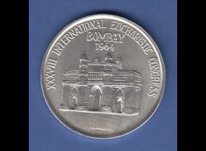XXXVIII INTERNATIONAL EUCHARISTIC CONGRESS BOMBAY 1964 edle Medaille, Silber ?