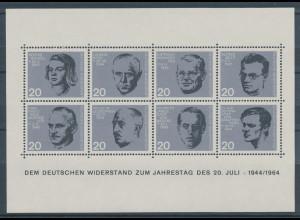 Bundesrepublik 1964, Widerstandskämpfer-Block, Mi.-Nr. Block 3 **