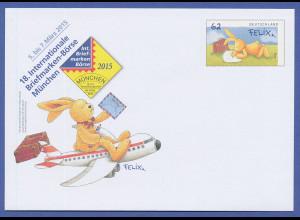 Ganzsache Hase Felix ungebraucht, nur erhältlich auf der IBB München 2015