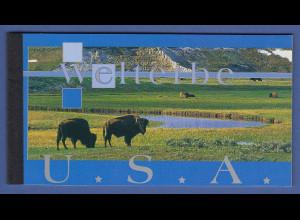 UNO Wien Markenheftchen 2003 MH 8 ** UNESCO-Welterbe USA