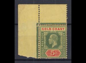 Ghana / Goldküste / Gold Coast Mi.-Nr. 71 sauber ungebrauchtes ECKRANDSTÜCK