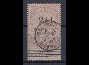 Sierra Leone Mi.-Nr. 40 Stempelmarke mit Aufdruck, sauber gestempelt