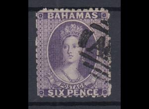 Bahamas 1863 Königin Viktoria Mi.-Nr. 7 A sauber gebraucht