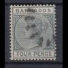 Barbados 1882 Queen Victoria Mi.-Nr. 36 sauber gebraucht