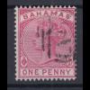 Bahamas 1884 Queen Victoria Mi.-Nr. 13 sauber gebraucht