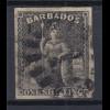 Barbados 1858 sitzende Britannia Mi.-Nr. 5 sauber gebraucht