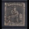 Barbados 1872 sitzende Britannia Mi.-Nr. 20C sauber gebraucht