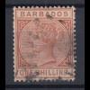 Barbados 1886 Queen Victoria Mi.-Nr. 39 sauber gebraucht