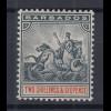 Barbados 1892 kleines Kolonialsiegel Mi.-Nr. 51 sauber ungebraucht