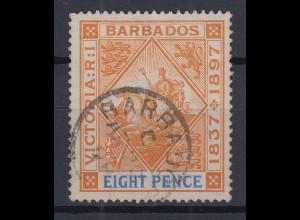 Barbados 1897 60 Jahre Regentschaft Queen Victoria Mi.-Nr. 59x sauber gebraucht