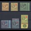 Antigua 1921-22 Georg V. Mi.-Nr. 38-44 Teilsatz sauber ungebraucht *