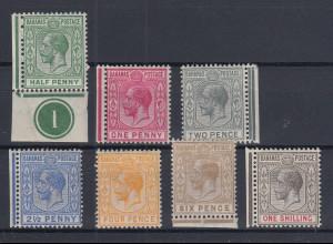 Bahamas 1912 Georg V. Mi.-Nr. 35-41 Teilsatz sauber ungebraucht *