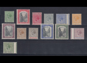 Bahamas 1921 Georg V. ect. 13 Werte aus Mi.-Nr. 73-87 ungebraucht *