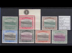 Dominica 1907 Ansicht von Roseau Mi.-Nr. 31-37 Teilsatz ungebraucht