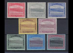 Dominica 1908 Ansicht von Roseau Mi.-Nr. 42-49 Teilsatz ungebraucht