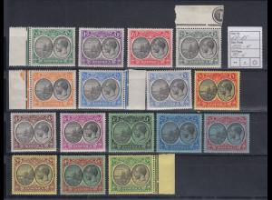Dominica 1908 Inselwappen Georg V. 16 Werte aus Mi.-Nr. 68-85 ungebraucht *
