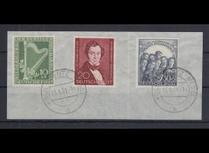 Berlin Philharmonie und Lortzing, Mi.-Nr. 72-73 und 74 sauber gest. auf Briefst.