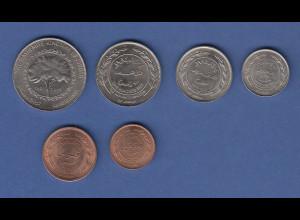 Barbados 1975 Kursmünzensatz in Polierter Platte PP proof-quality 8 Münzen
