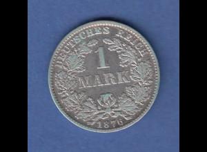 Deutsches Kaiserreich 1 Mark D 1876 sehr schön