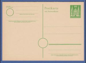 Bizone Ganzsache Holstentor 10Pfg. Antwortkarte Mi.-Nr. P8 ungebraucht