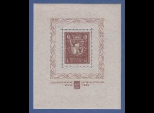 Liechtenstein 1934 Vaduz-Block ** in einwandfreier Top-Qualität !