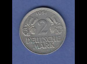 Bundesrepublik DM-Kursmünze 2 Mark Ähren seltenste Variante 1951 G