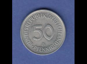 Bundesrepublik 50Pfg-Kursmünze 1990 A