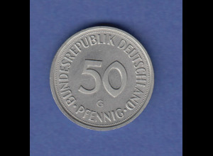 Bundesrepublik 50Pfg-Kursmünze 1989 G