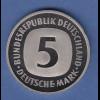 Bundesrepublik 5DM-Kursmünze 2001A in höchster Prägequalität Spiegelglanz PP