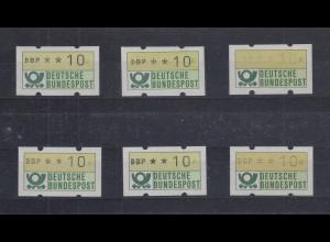 Bund ATM 1. Ausgabe Mi.-Nr. 1 und 2 ALLE UNTERTYPEN nach MICHEL-SPEZIAL kpl. **