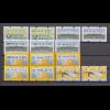 Bund ATM Mi.-Nr 1.1 bis 5.2 insgesamt 14 ATM-Untertypen gemäß MICHEL-Spezial