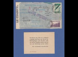 Brief von Graf Spee Gefr. Heinz Demmler 1942-43 kompliziert gel. nach D, Zensur