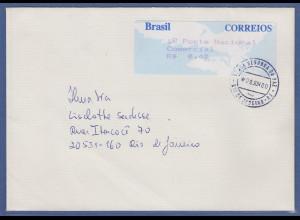 Brasilien Procomp-ATM Taube, Wertstufe 0,40 aus 2. TARIF auf Inlandsbrief SELTEN