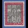 Bundesrepublik 1951 Marienkirche mit PLF Sprung im Fresko, Mi.-Nr. 140 I gest.