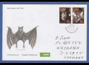 Irland Ersttagsbrief / FDC 2012 Mi.-Nr. 2012-13 Bram Stoker Dracula beisst Opfer