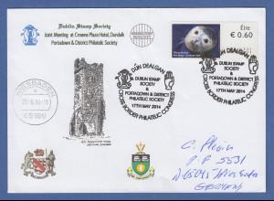 Irland Automatenmarken 2013 Seehund Mi.-Nr. 46 auf gel. Brief O Dun Dealgan