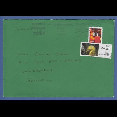 Irland Automatenmarken 2012 Seepferdchen Mi.-Nr. 34 auf gel. Brief