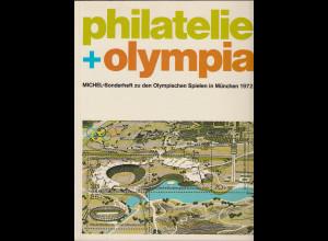 Philatelie + Olympia MICHEL-Sonderheft von 1972 in Top-Zustand !