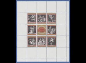 Österreich 1969 Zusammendruckbogen Wiener Staatsoper Mi.-Nr. 1294-1301 **