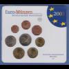 Bundesrepublik EURO-Kursmünzensatz 2002 D Normalausführung stempelglanz