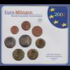 Bundesrepublik EURO-Kursmünzensatz 2002 F Normalausführung stempelglanz