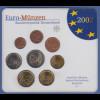 Bundesrepublik EURO-Kursmünzensatz 2002 G Normalausführung stempelglanz